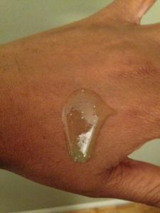scrub on hand