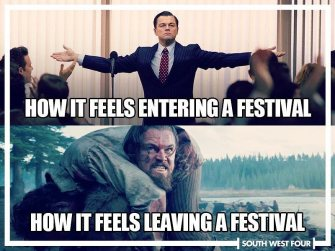 Before and After a Music Festival
